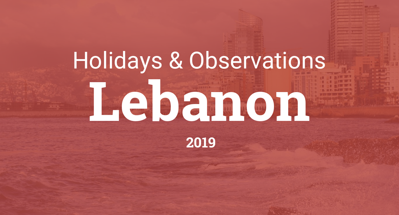 Holidays and observances in Lebanon in 2019