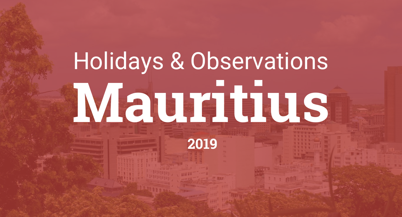 Holidays and observances in Mauritius in 2019