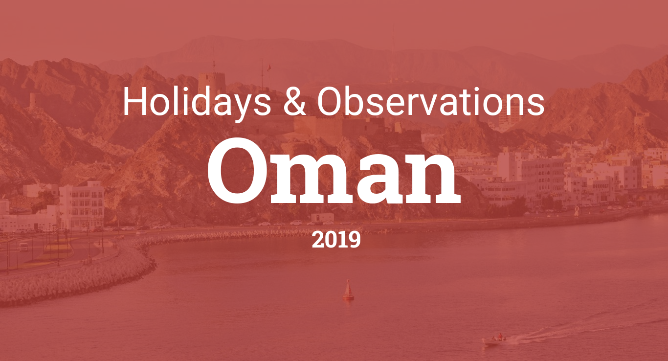 Holidays and observances in Oman in 2019