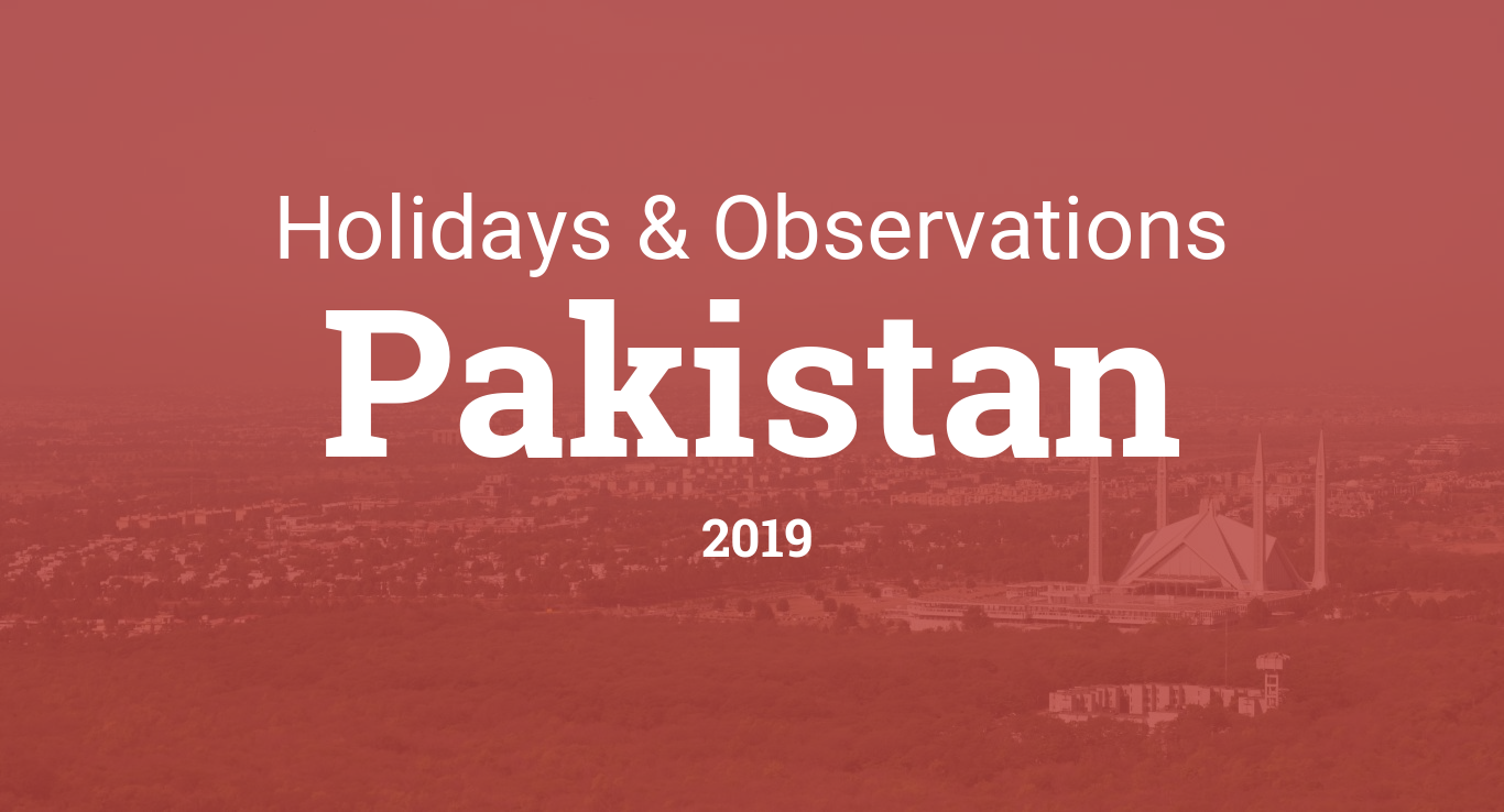Holidays and observances in Pakistan in 2019
