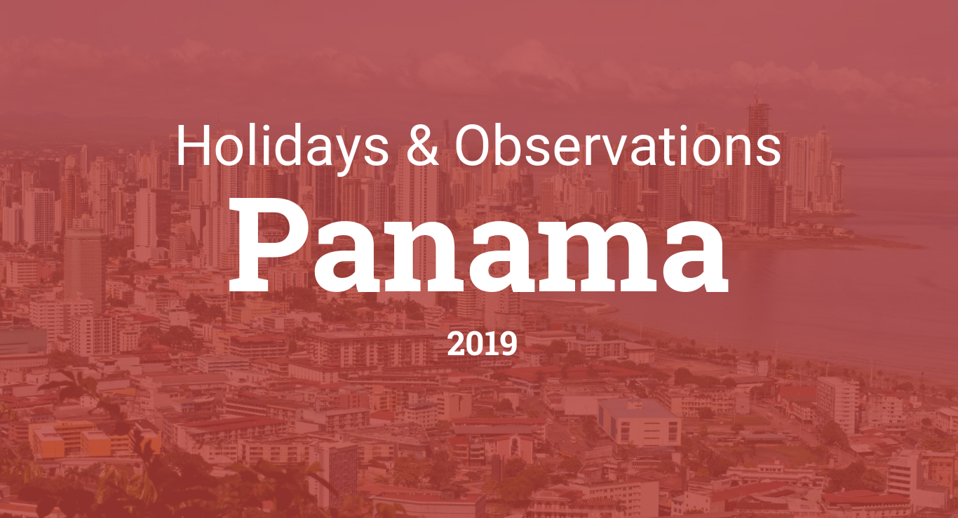 Holidays and observances in Panama in 2019