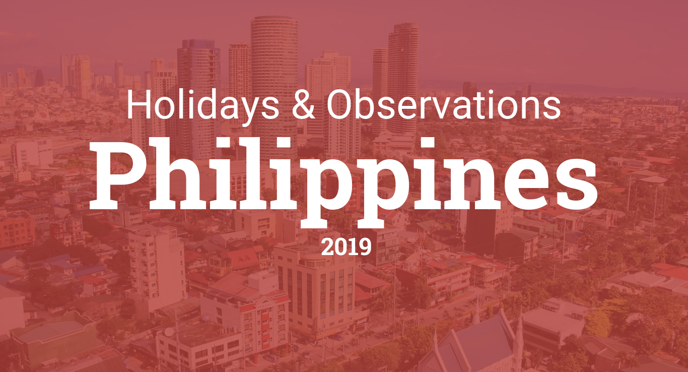 Holidays and observances in Philippines in 2019