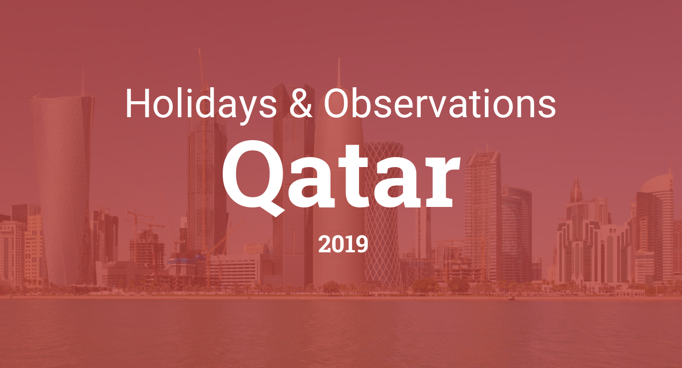 Holidays and observances in Qatar in 2019