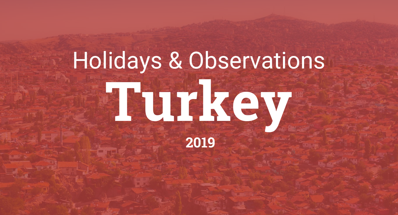 Holidays and observances in Turkey in 2019