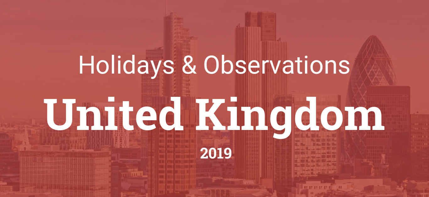Holidays and observances in United Kingdom in 2019