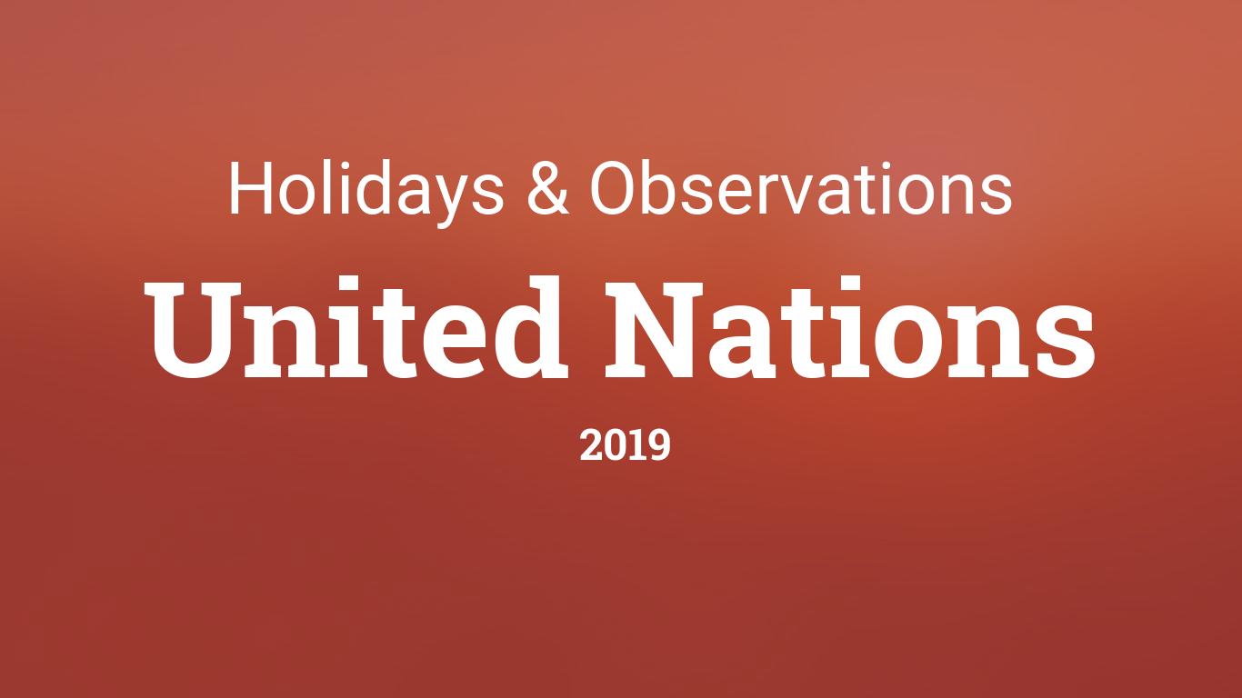 UN Days in 2019