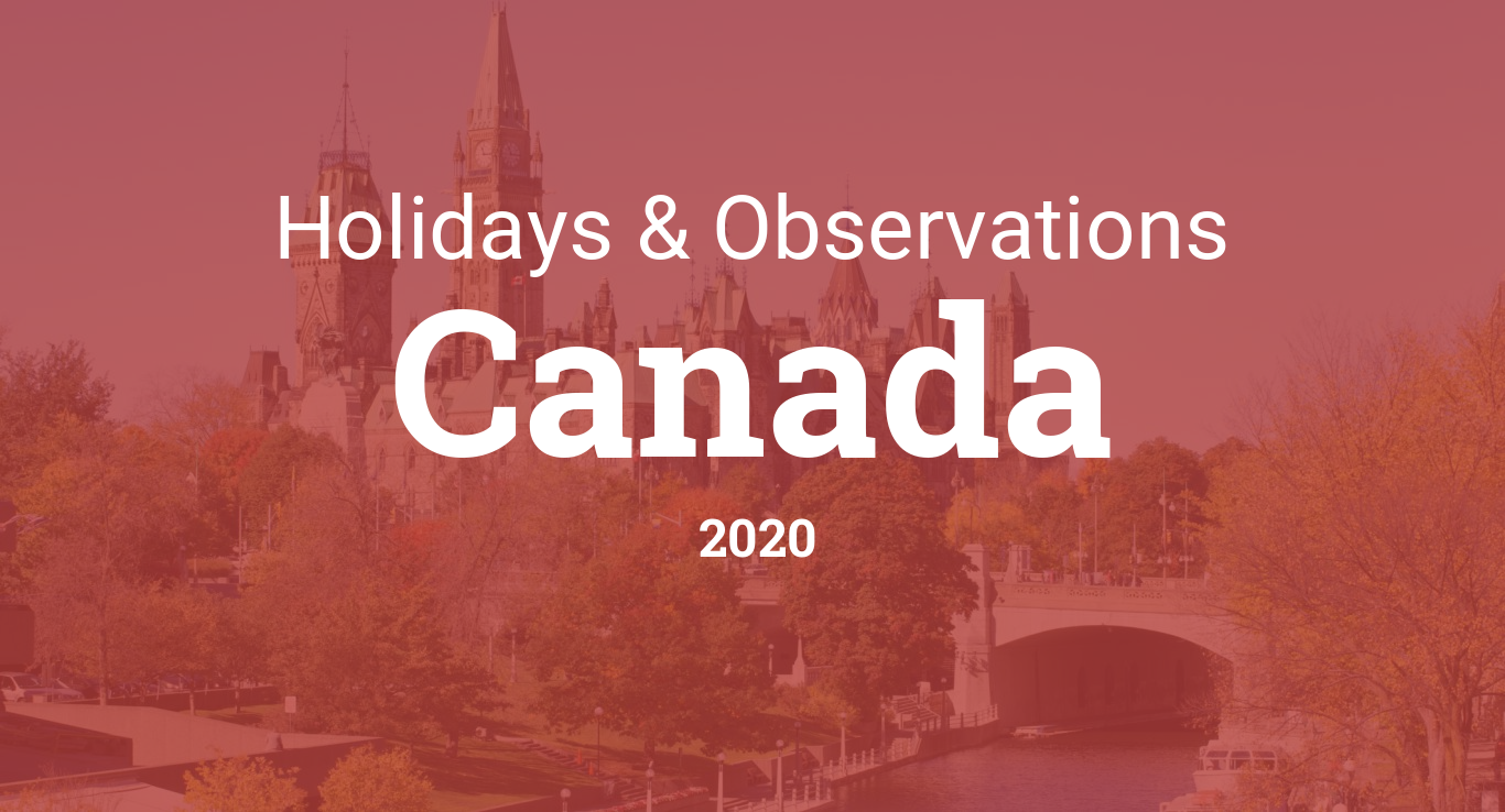 Calendario 2020 2020.Holidays And Observances In Canada In 2020
