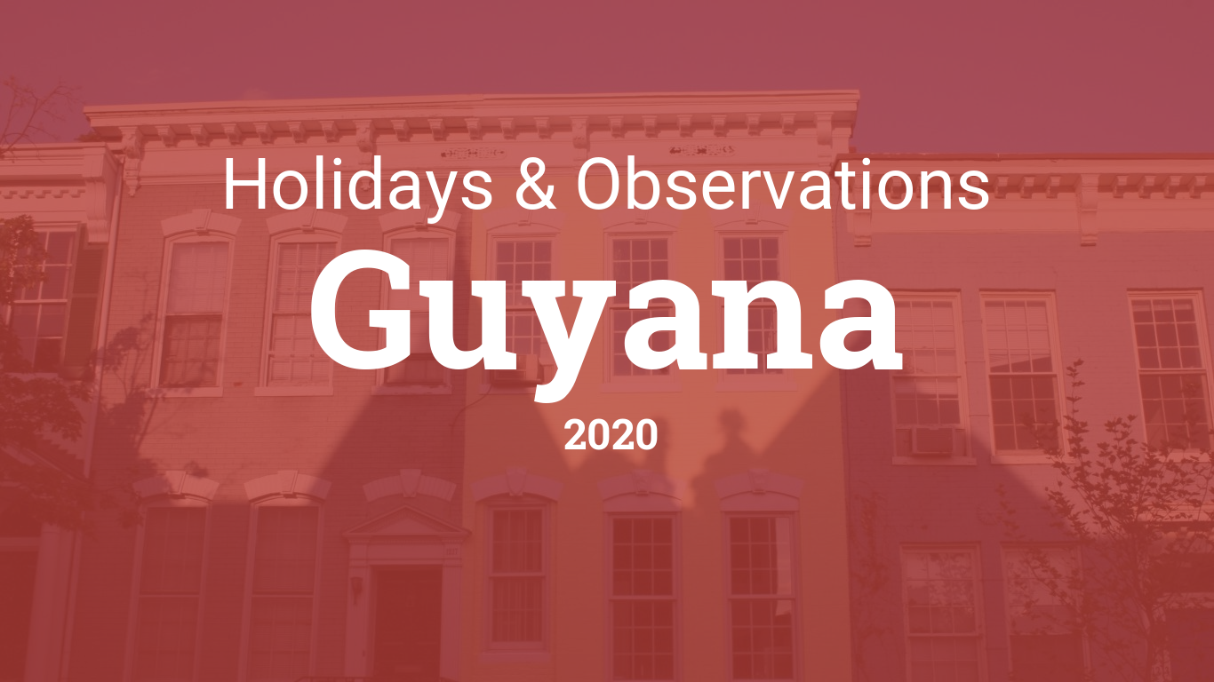 Holidays and observances in Guyana in 2020
