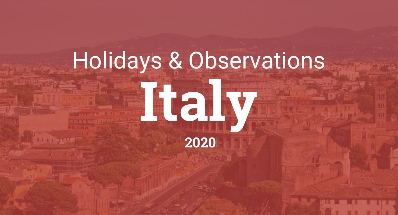 Holidays and observances in Italy in 2020