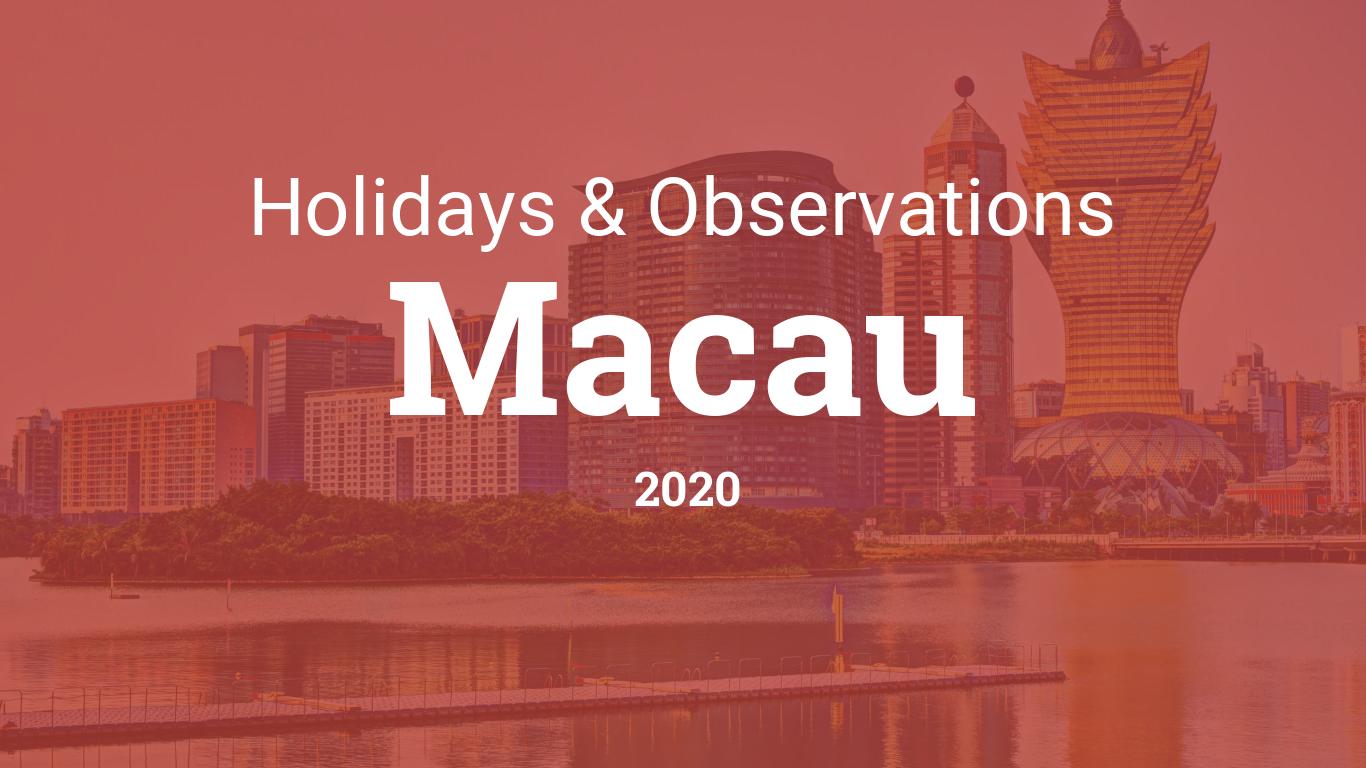 Macau December Christmas 2020 Holidays and observances in Macau in 2020