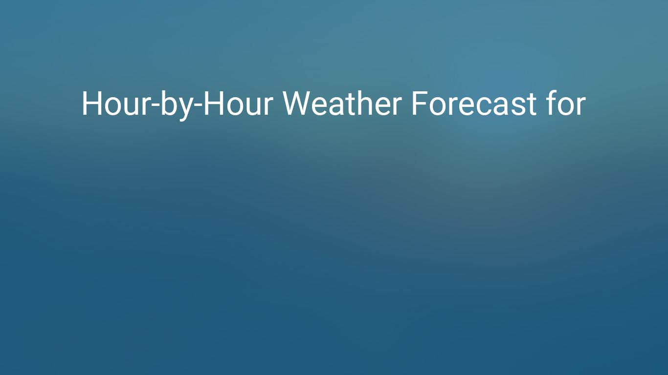 Hourly Forecast For Toronto Ontario Canada