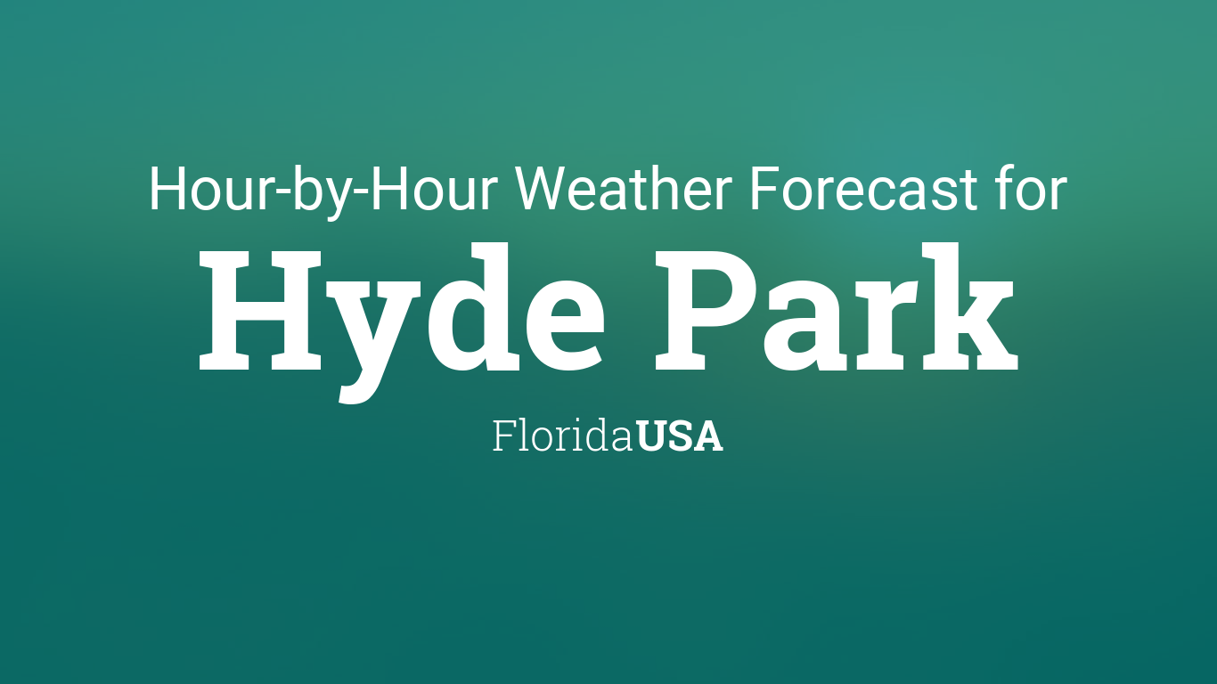 Hourly Forecast For Hyde Park Florida Usa
