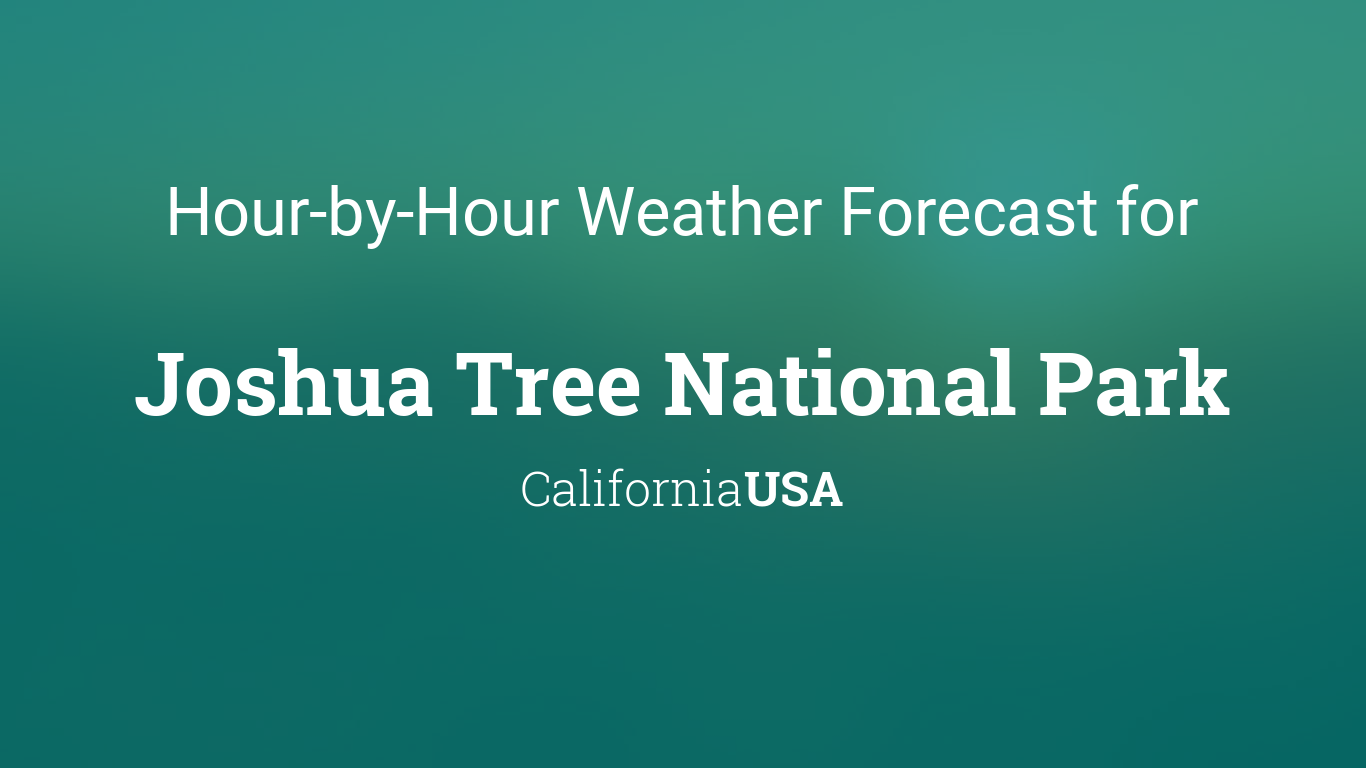Hourly Forecast For Joshua Tree National Park California Usa