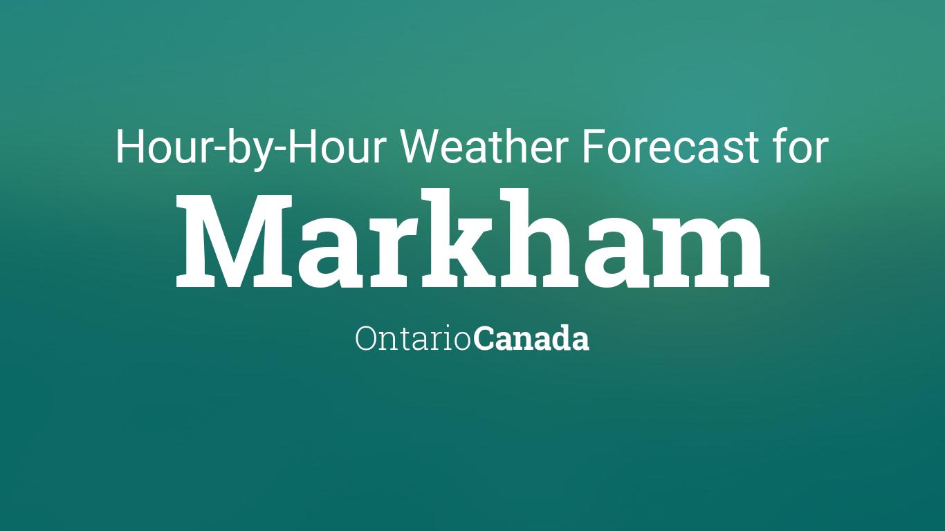 weather in markham ontario