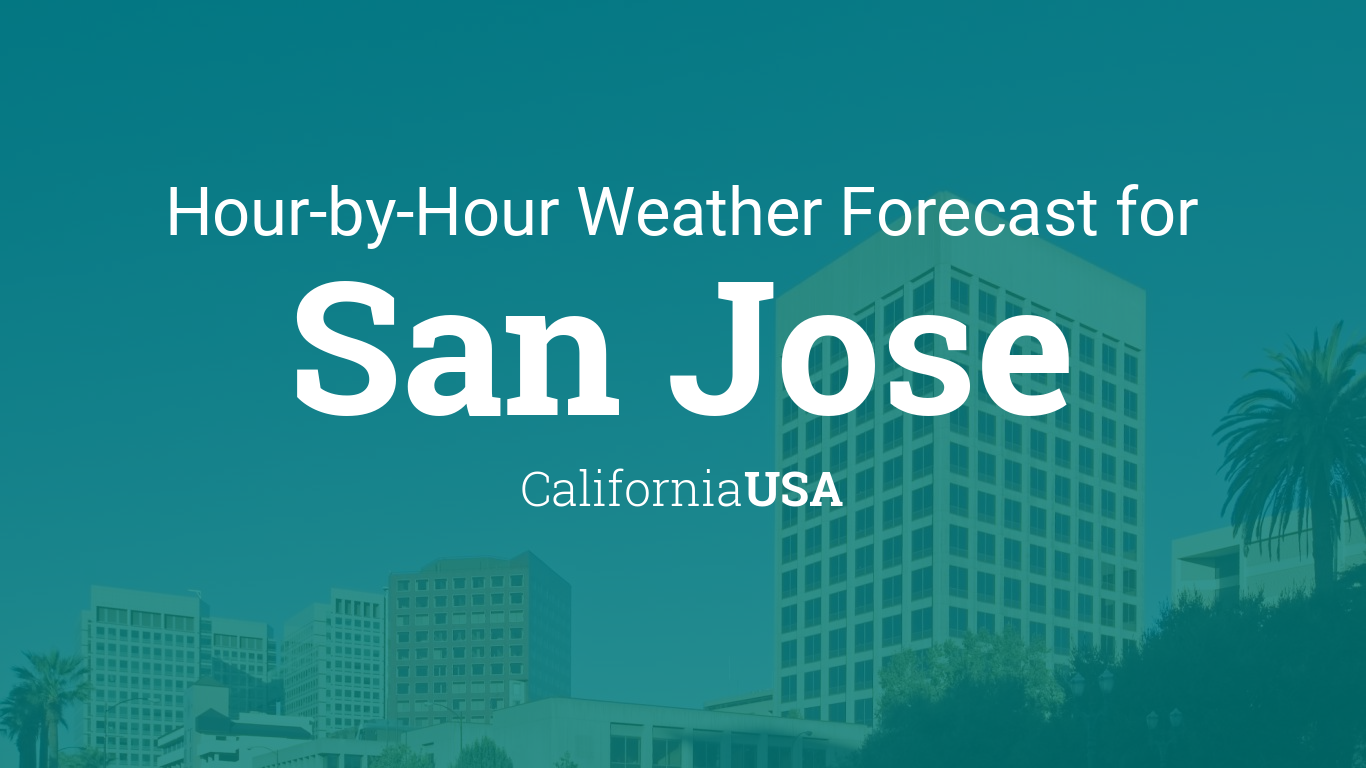 Hourly forecast for San Jose, California, USA