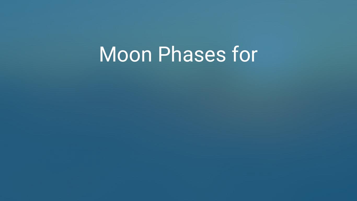 Moon Phases | Farmers' Almanac