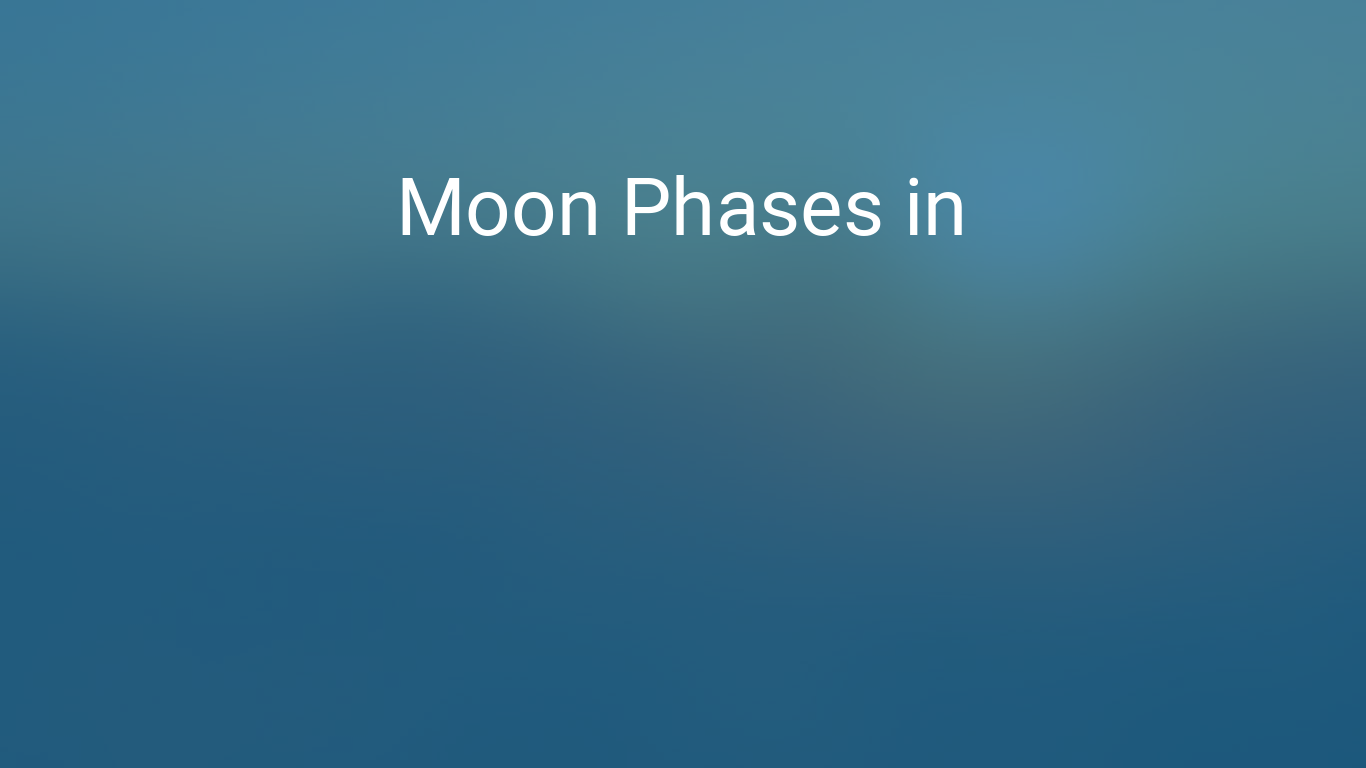 Moon Phases 2018 – Lunar Calendar for Austin, Texas, USA