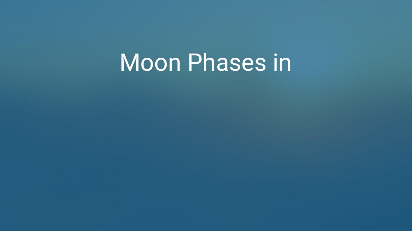 Moon Phases 2019 Lunar Calendar For Dhaka Bangladesh