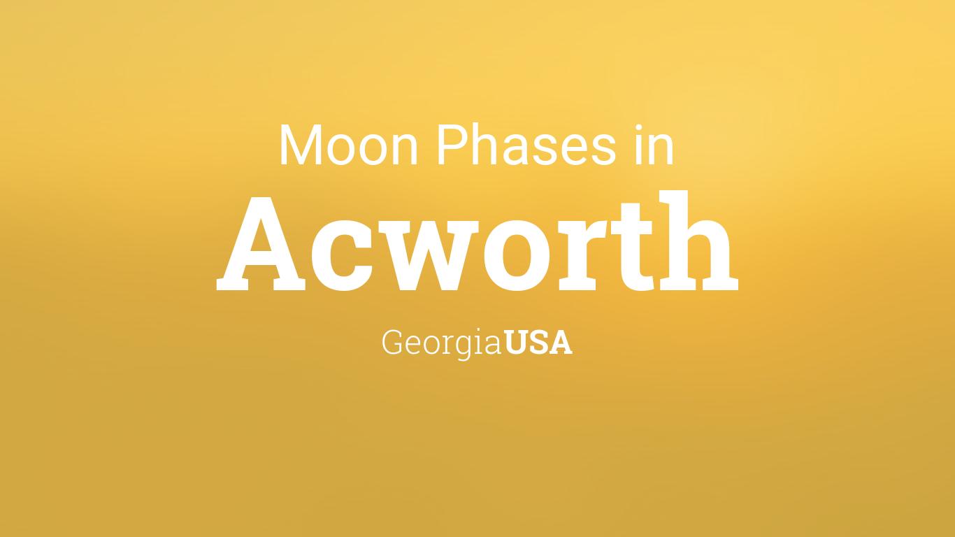 Moon Phases 2019 – Lunar Calendar for Acworth, Georgia, USA