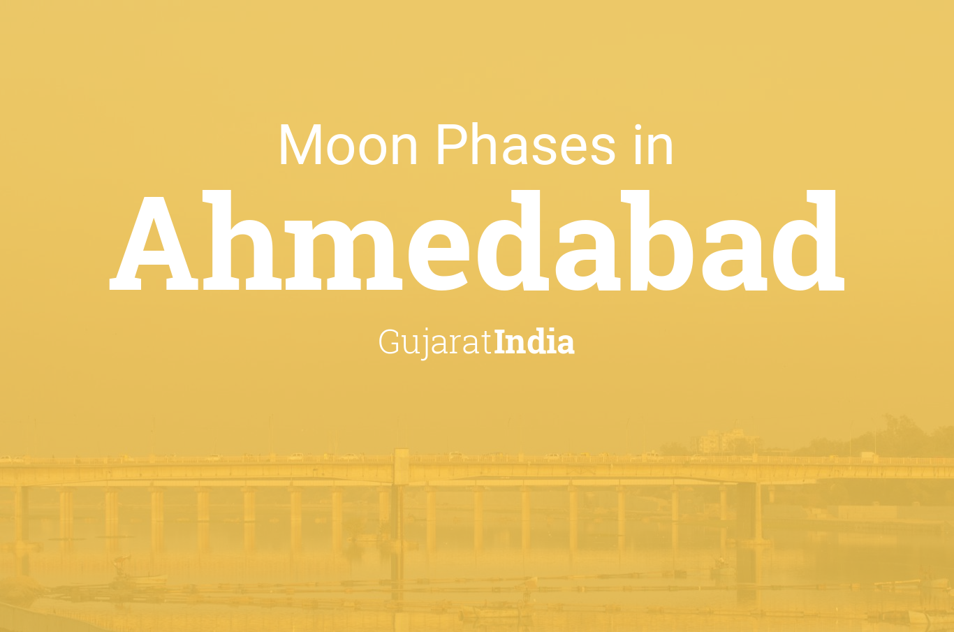 Moon Phases 2019 – Lunar Calendar for Ahmedabad, Gujarat, India