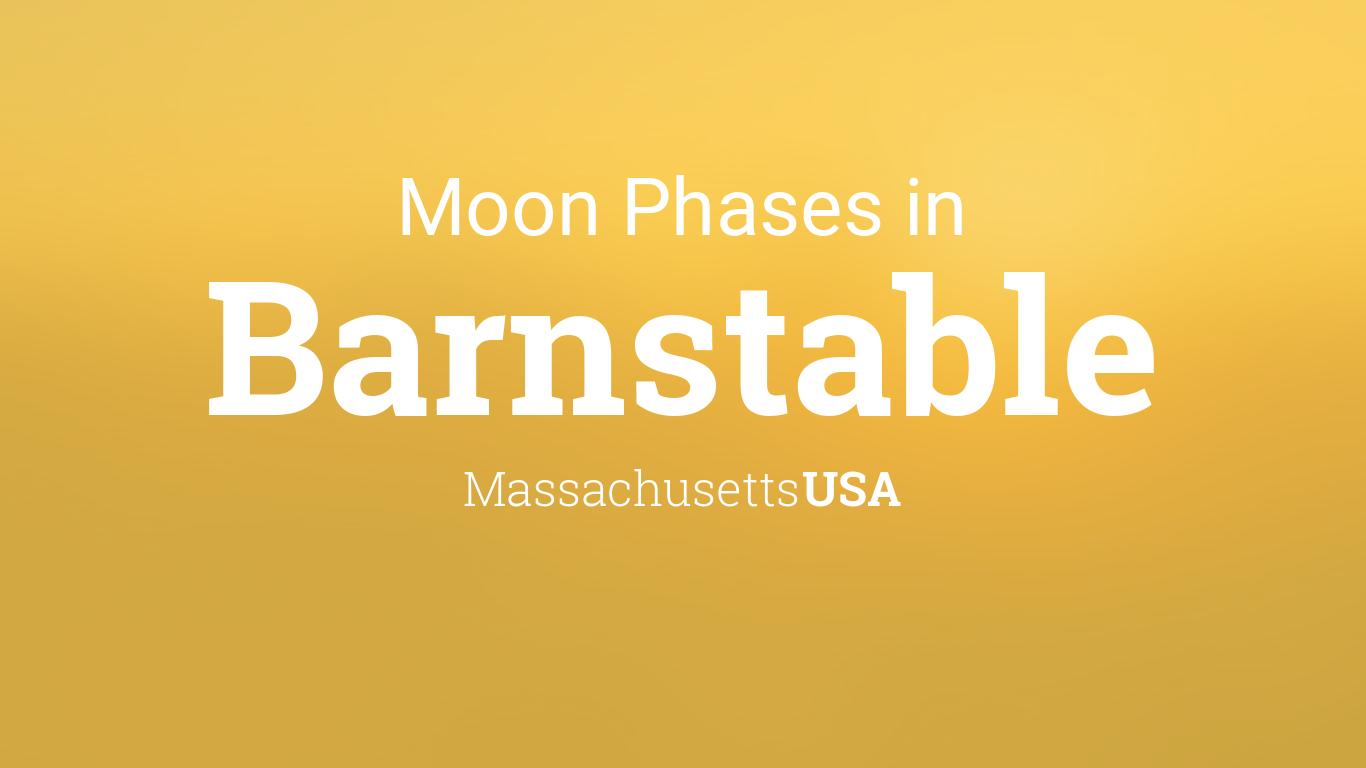 Moon Phases 2018 Lunar Calendar For Barnstable Massachusetts Usa