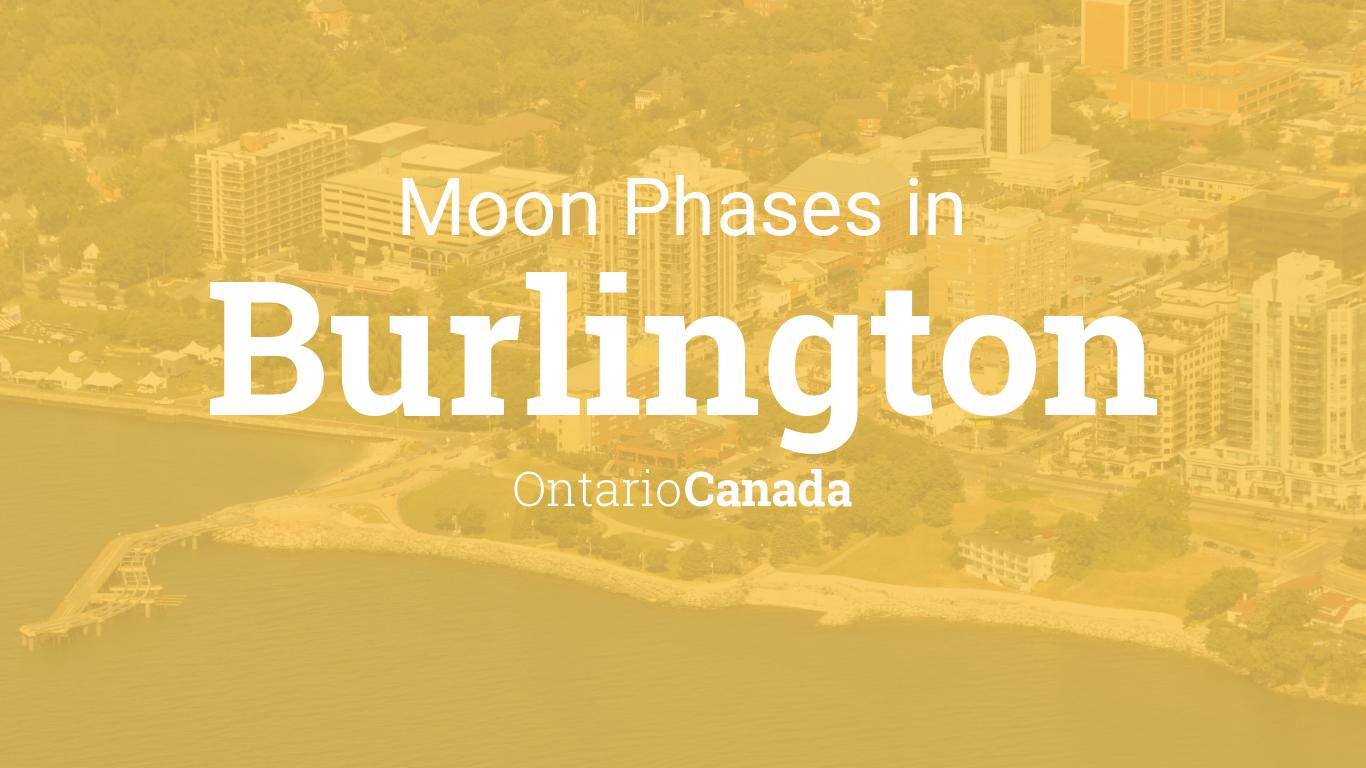 Moon Phases 2019 – Lunar Calendar for Burlington, Ontario