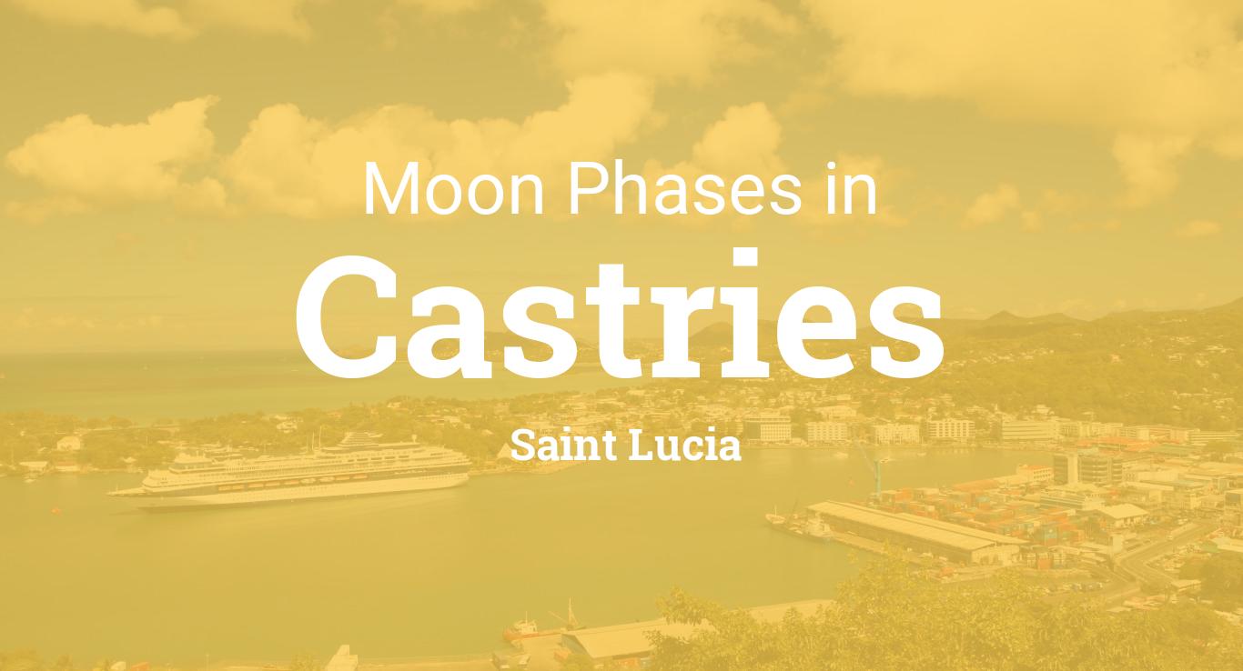 Moon Phases 2018 – Lunar Calendar for Castries, Saint Lucia