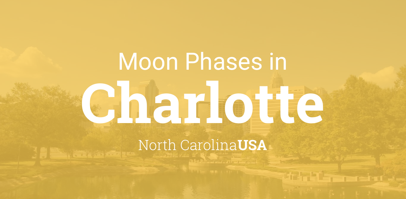 moon phases 2018 lunar calendar for charlotte north carolina usa