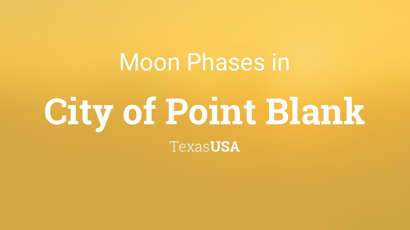 moon phases 2018 lunar calendar for city of point blank texas usa