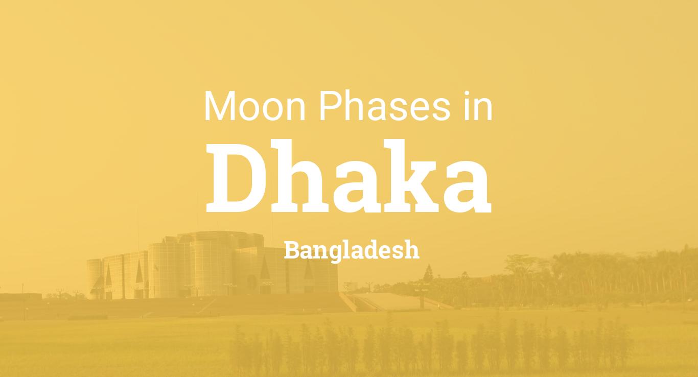Moon Phases 2019 – Lunar Calendar for Dhaka, Bangladesh