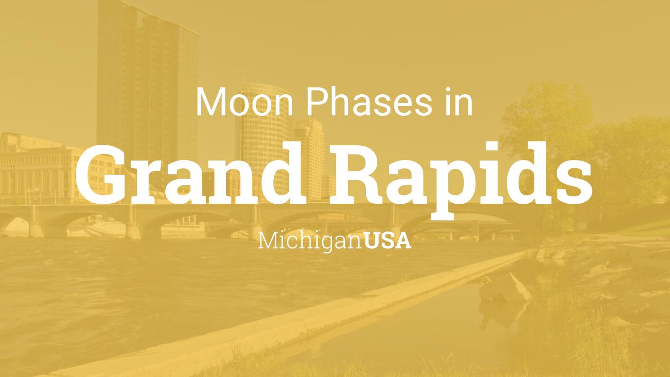 moon phases 2018 lunar calendar for grand rapids michigan usa
