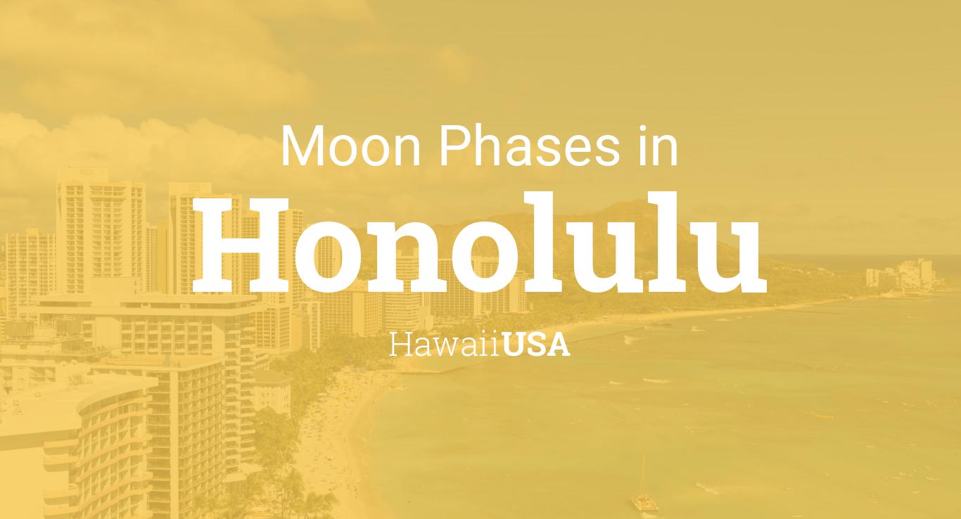 Moon phases 2018 lunar calendar for honolulu hawaii usa nvjuhfo Images