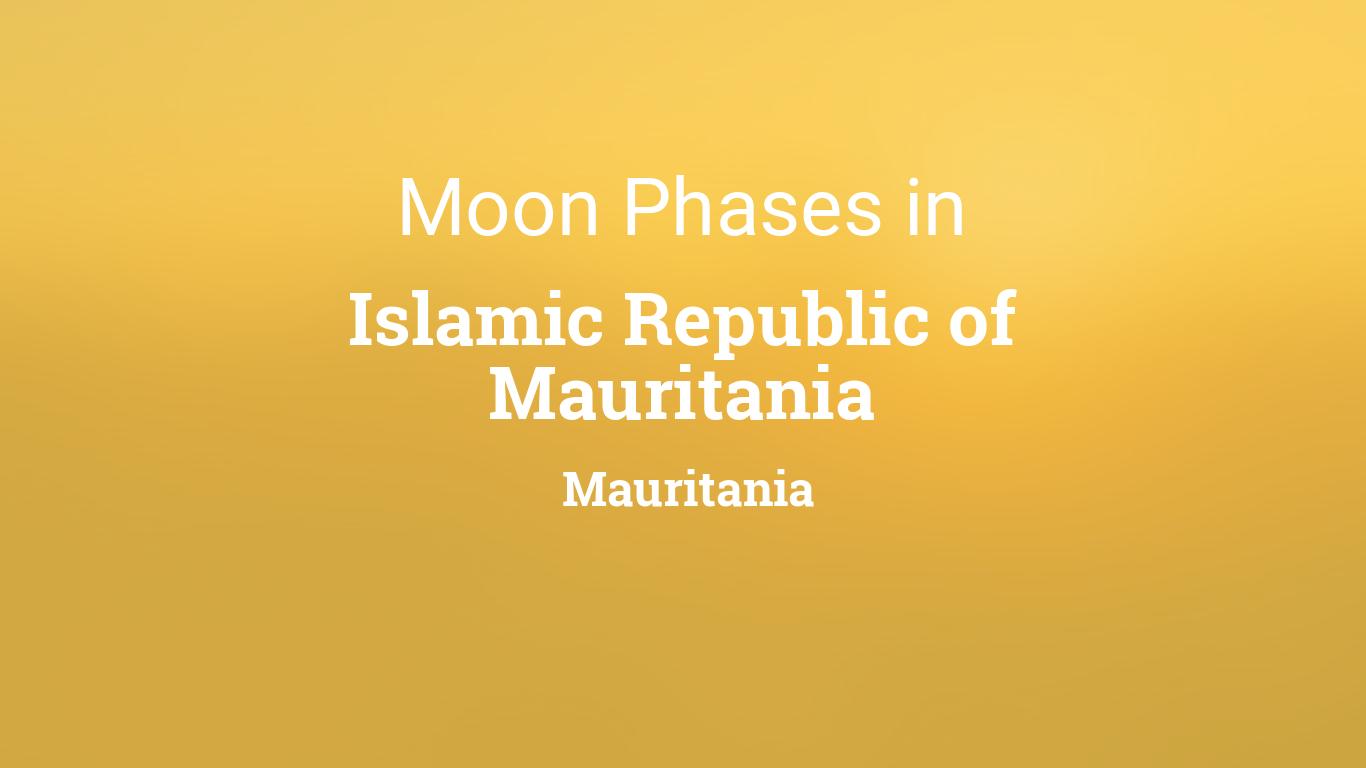 Moon Phases 2019 – Lunar Calendar for Islamic Republic of