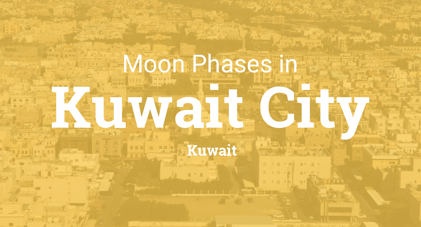 moon phases 2018 lunar calendar for kuwait city kuwait. Black Bedroom Furniture Sets. Home Design Ideas