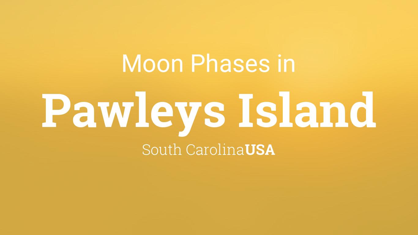Moon Phases 2018 Lunar Calendar For Pawleys Island South Carolina
