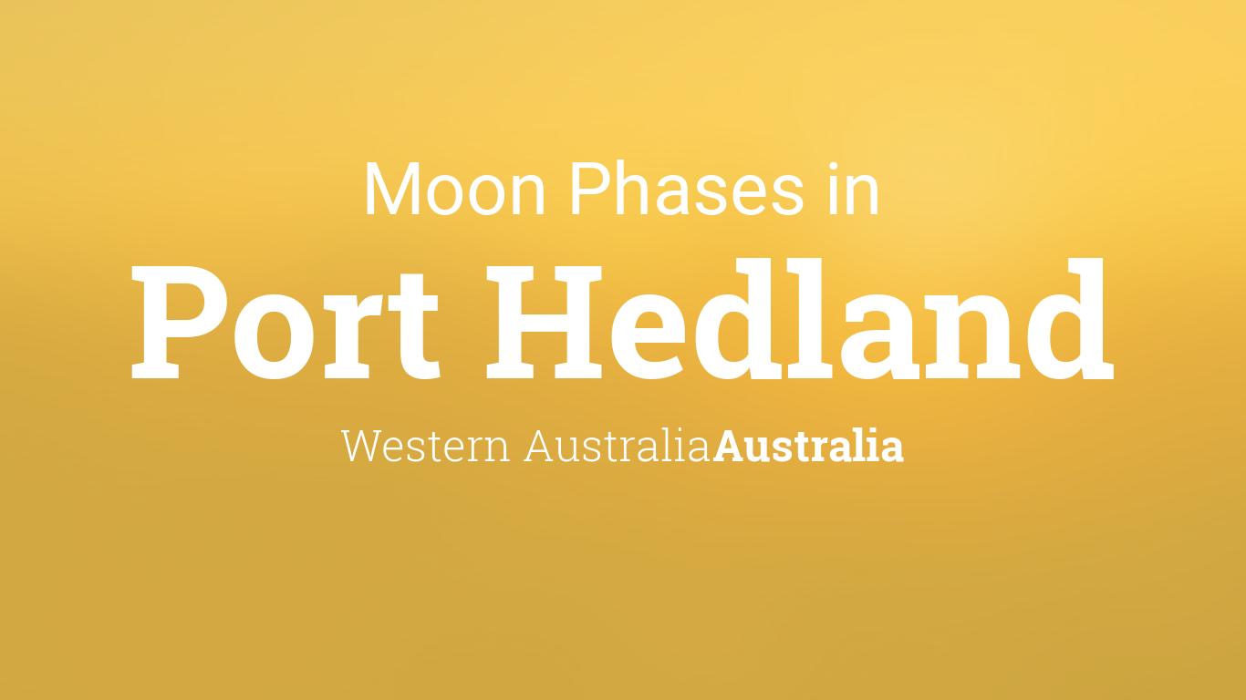 Moon Phases 2018 Lunar Calendar For Port Hedland Western