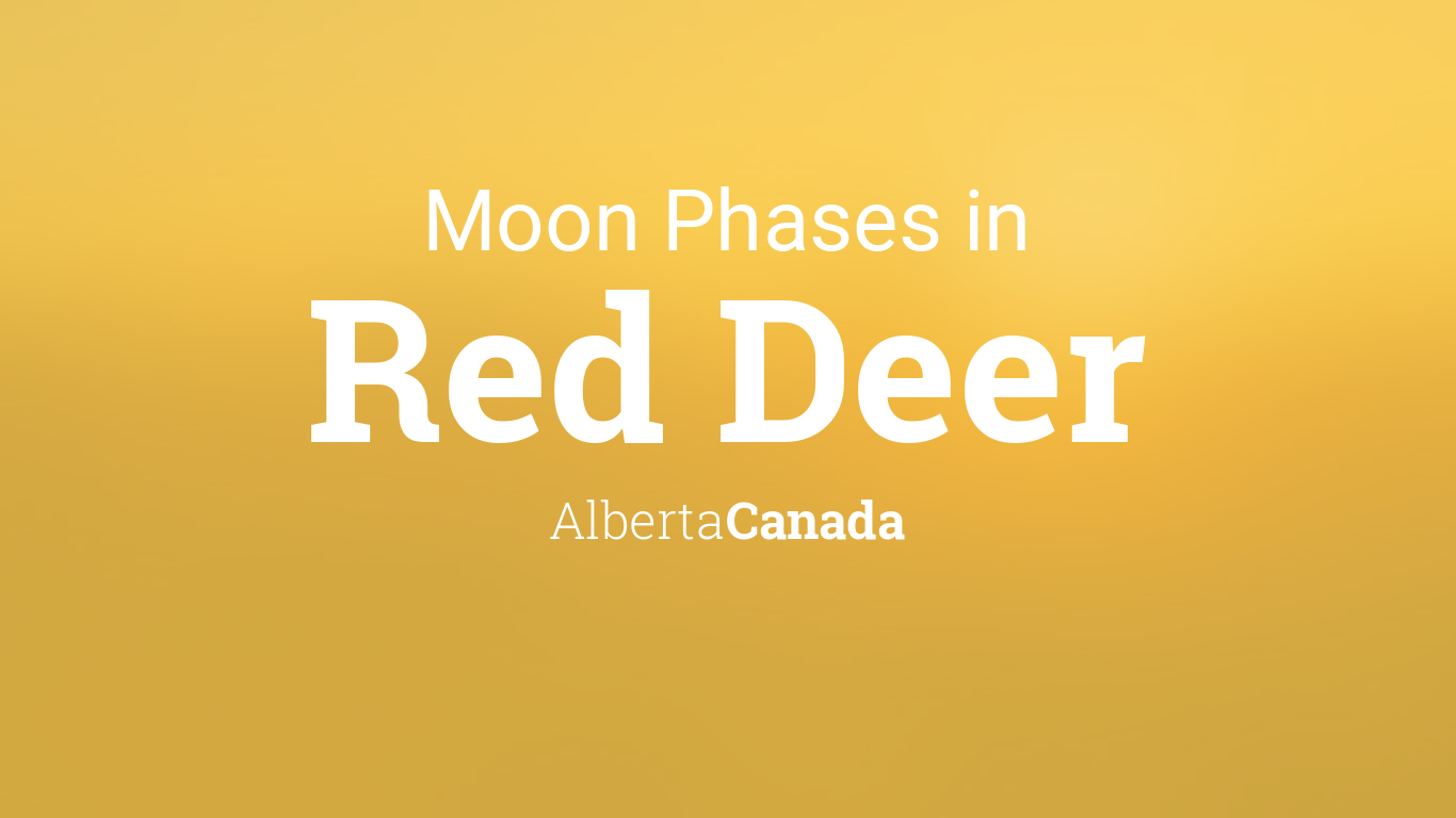 moon phase today red deer - photo #6