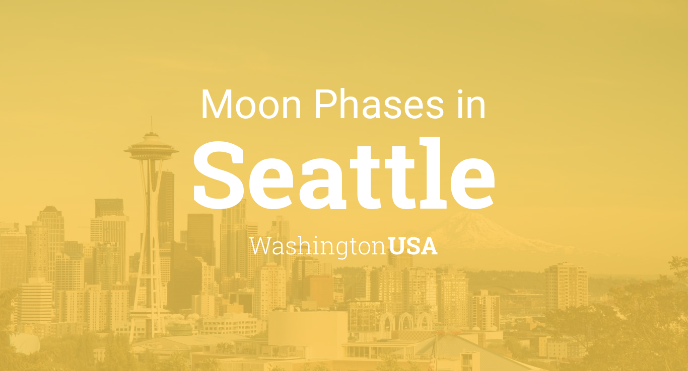 Moon Phases 2019 – Lunar Calendar for Seattle, Washington, USA