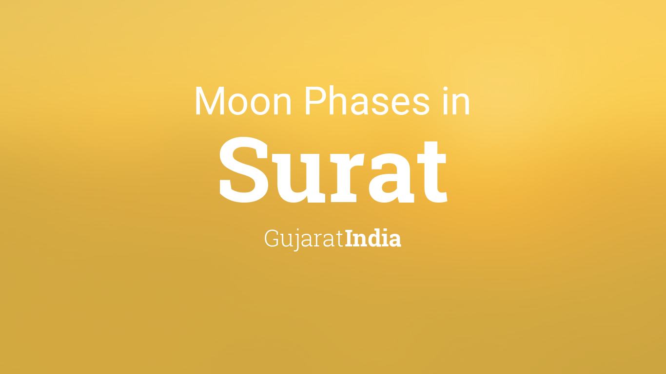 Moon Phases 2019 – Lunar Calendar for Surat, Gujarat, India