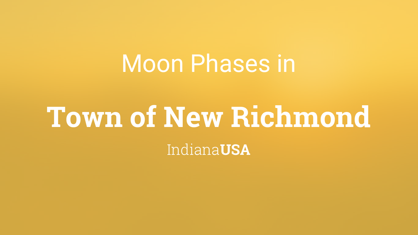 Moon Phases 2019 – Lunar Calendar for Town of New Richmond