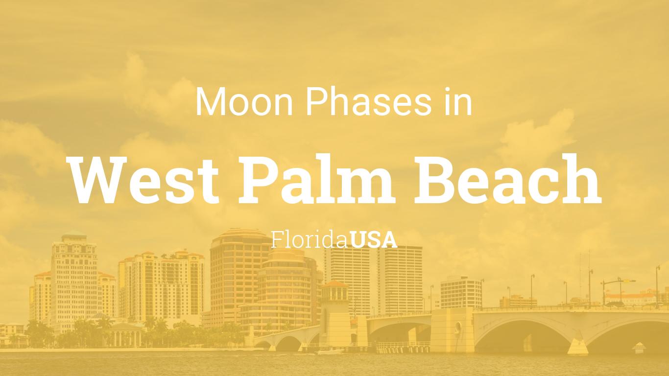 Moon Phases 2018 Lunar Calendar For West Palm Beach Florida Usa