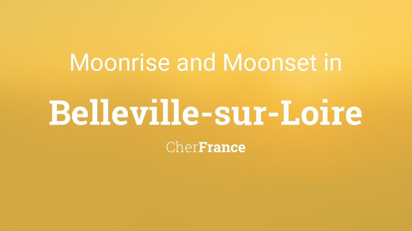 Moonrise moonset and moon phase in belleville sur loire for Belleville sur loire piscine