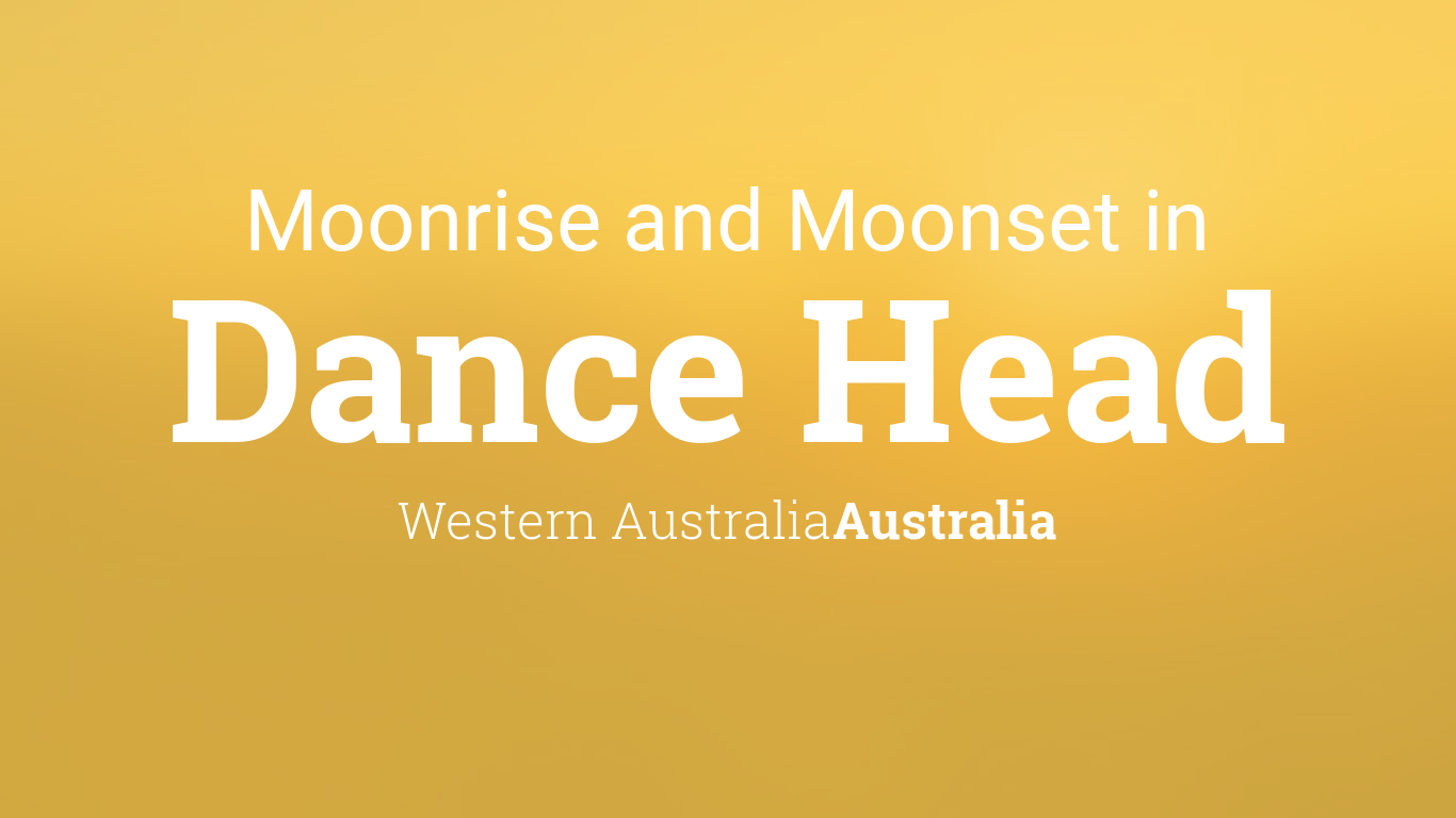 moonrise moonset and moon phase in dance head