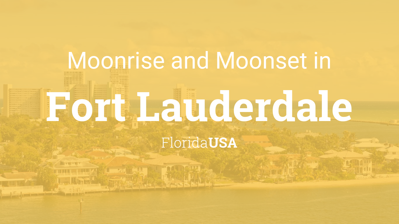 Moonrise moonset and moon phase in fort lauderdale geenschuldenfo Images