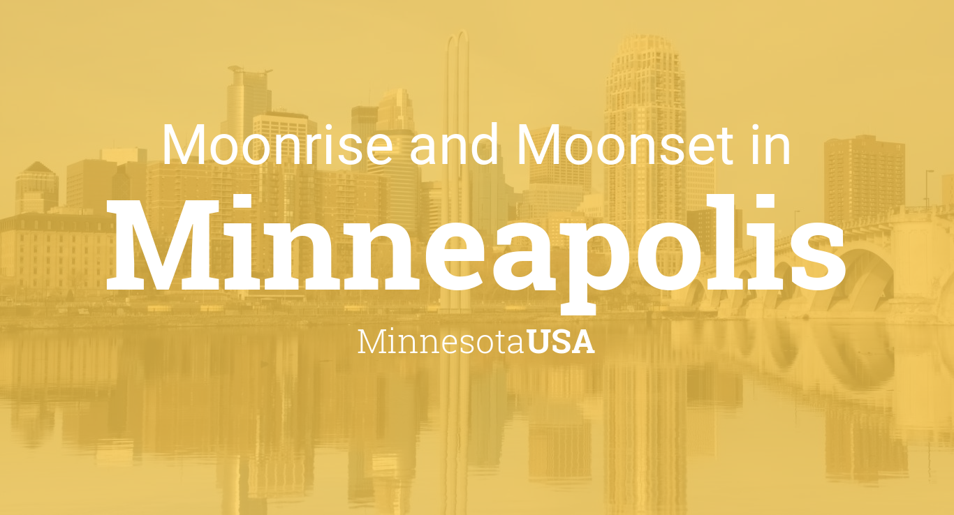 Moonrise, Moonset, and Moon Phase in Minneapolis