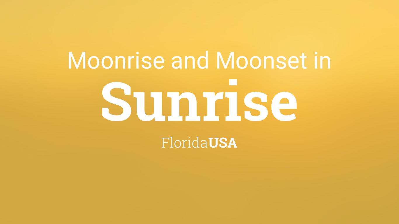 Moonrise, Moonset, and Moon Phase in Sunrise