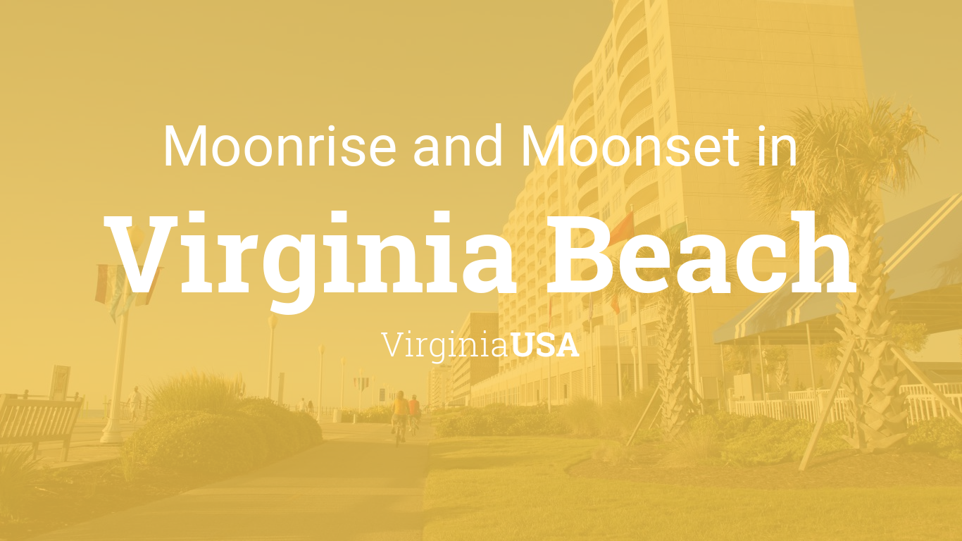 Moonrise, Moonset, and Moon Phase in Virginia Beach