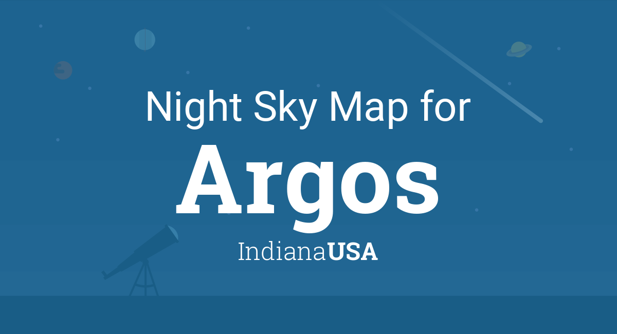 Night Sky Map Planets Visible Tonight In Argos