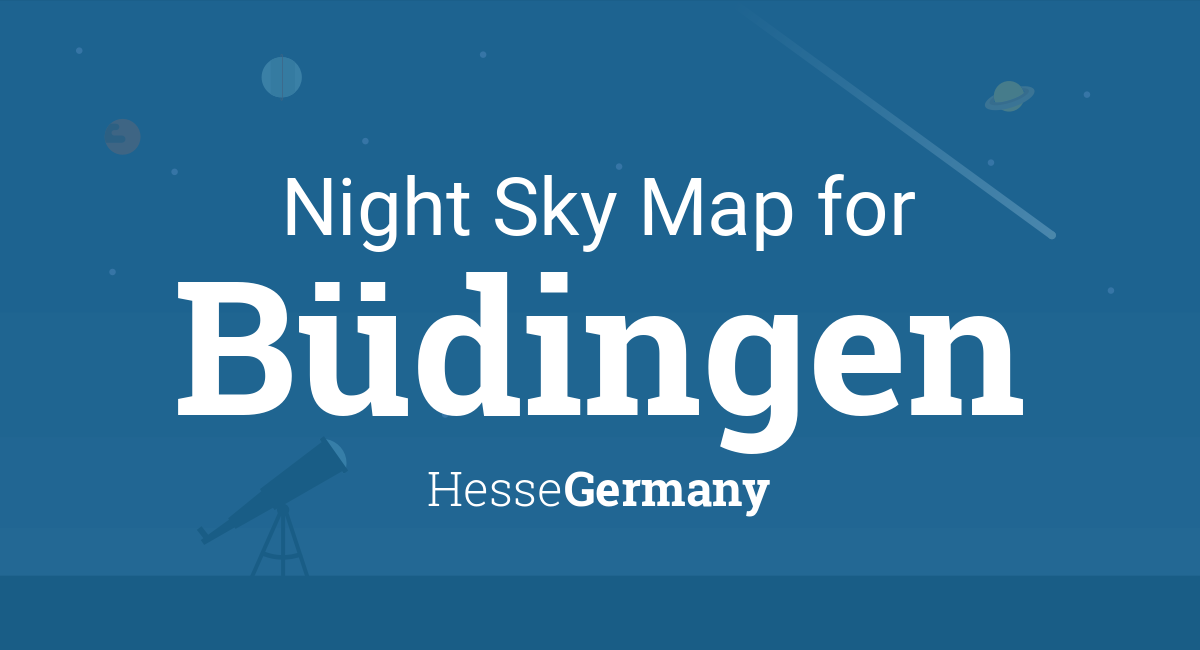 Budingen Germany Map.Night Sky Map Planets Visible Tonight In Budingen