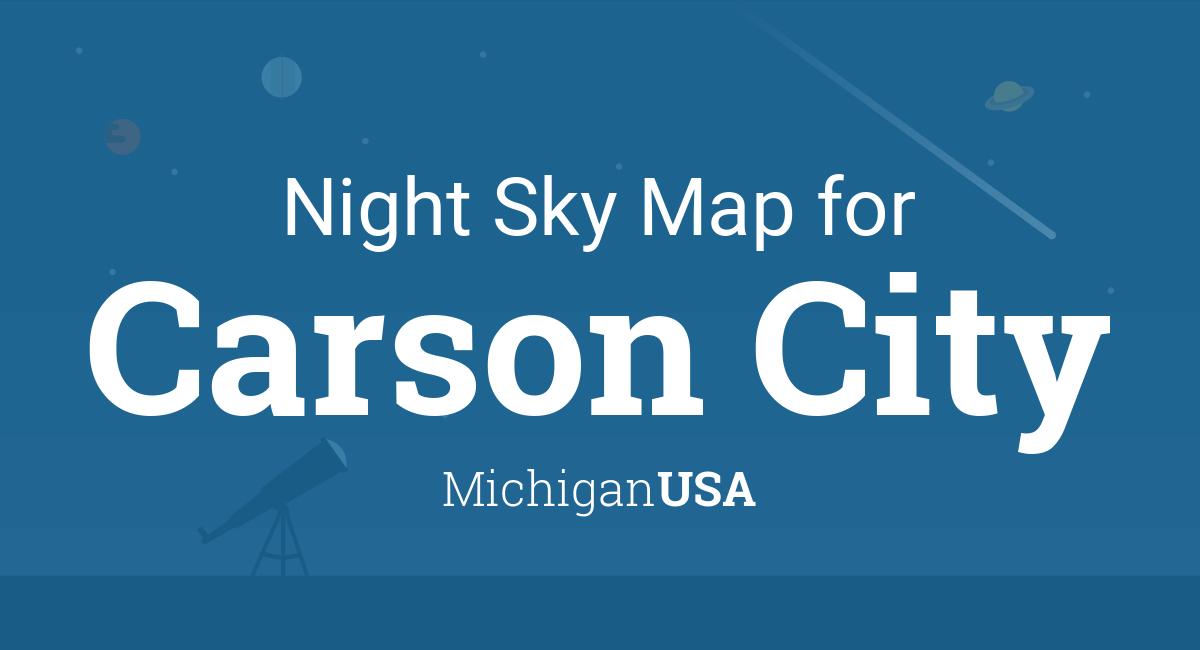Night Sky Map Planets Visible Tonight In Carson City